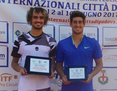 TENNIS: COLLARINI VINCE L'ITF DI PADOVA. UNDER 16 AL MACROAREA