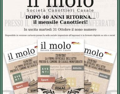 MARTEDI' 31 OTTOBRE ESCE 'IL MOLO'!