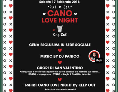 CANO LOVE NIGHT BY KEEP OUT: LA SERATA