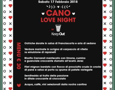 LA CENA DELLA 'CANO LOVE NIGHT BY KEEP OUT'