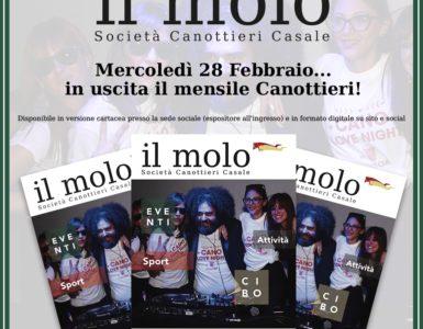 MERCOLEDI' 28 FEBBRAIO ESCE 'IL MOLO'!