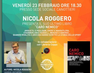 SALOTTO BIBLIOSPORT: NICOLA ROGGERO PRESENTA 'CARO NEMICO'