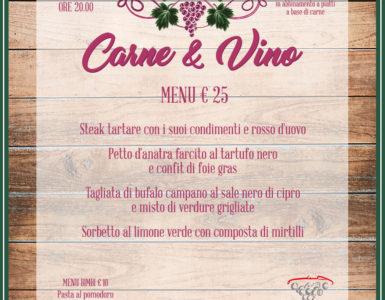 CARNE & VINO, VENERDI' 23 MARZO