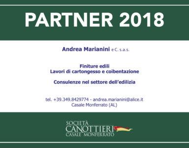 ANDREA MARIANINI FRIEND PARTNER ANCHE NEL 2018