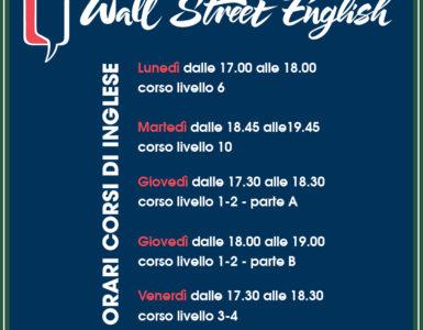 GLI ORARI DEI CORSI D'INGLESE WALL STREET ENGLISH