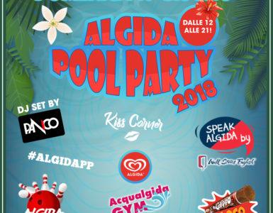 ALGIDA POOL PARTY, DOMENICA 10 GIUGNO