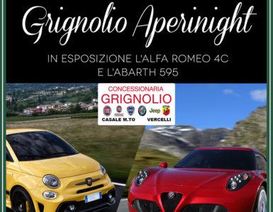 GRIGNOLIO APERINIGHT, ABARTH 595 E ALFA ROMEO 4C IN ESPOSIZIONE