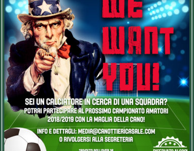 WE WANT YOU! GIOCA CON LA CANO NEL CAMPIONATO AMATORI