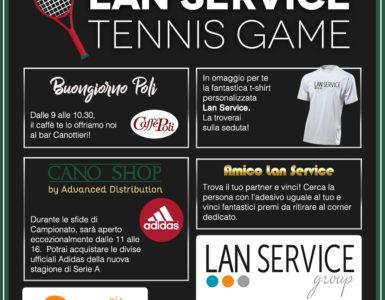 LAN SERVICE TENNIS GAME PER LA TERZA GIORNATA DI A2
