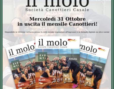 MERCOLEDI' 31 OTTOBRE ESCE 'IL MOLO'