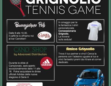 GRIGNOLIO TENNIS GAME, LA PRIMA GIORNATA DI A2