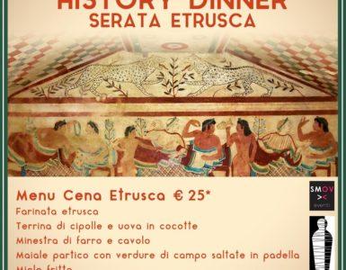 HISTORY DINNER – SERATA ETRUSCA, LA CENA