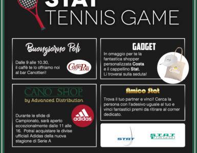 STAT TENNIS GAME, LA TERZA GIORNATA DI A1