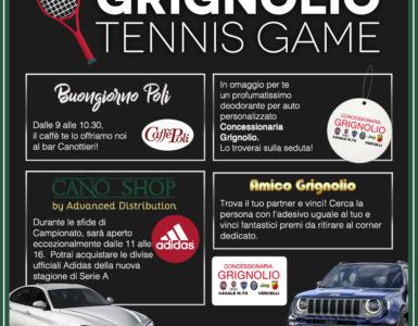 GRIGNOLIO TENNIS GAME, PER LA 5^ GIORNATA DI A2