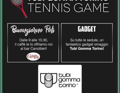 TUBI GOMMA TORINO TENNIS GAME PER LA SFIDA AL TC PARIOLI