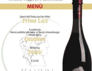 venerdì 27 maggio: Degustazione birre artigianali KAMUN