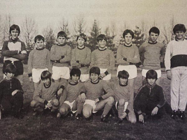 I giovani calciatori della Canottieri 1983/1984.