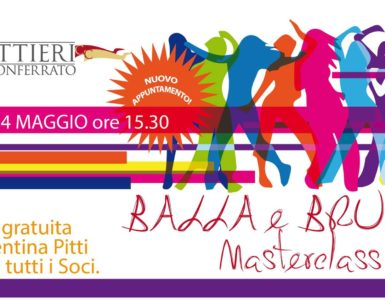 BALLA e BRUCIA Masterclass: sabato 14 maggio ore 15.30