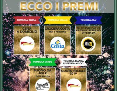 TOMBOLA 2019, ECCO I PRIMI PREMI