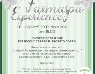 FARMASPA EXPERIENCE, GIOVEDI' 28 MARZO