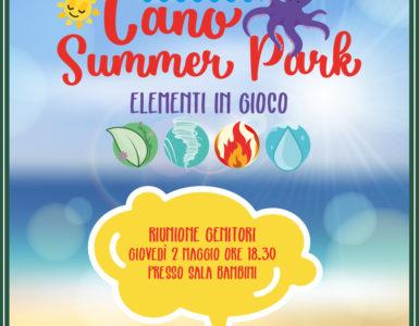 CANO SUMMER PARK, RIUNIONE CON LO STAFF