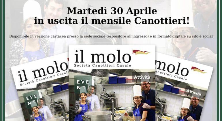 MARTEDI' 30 APRILE, ESCE 'IL MOLO'