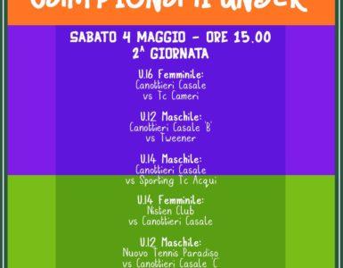CAMPIONATI UNDER DI TENNIS, 2^ GIORNATA