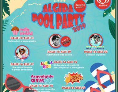 ALGIDA POOL PARTY, DOMENICA 14 LUGLIO