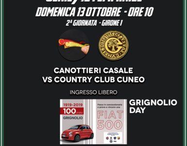 CONTRO IL COUNTRY CLUB CUNEO, VI ASPETTIAMO PER IL GRIGNOLIO DAY!