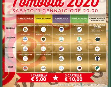 TOMBOLA 2020, TUTTI I PREMI