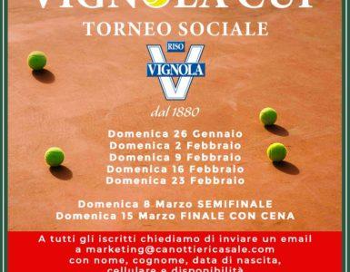 VIGNOLA CUP, IL TORNEO SOCIALE PARTE DOMENICA 26 GENNAIO
