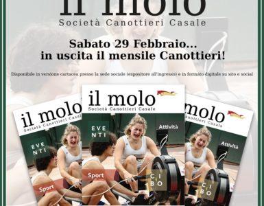 SABATO 29 FEBBRAIO ESCE 'IL MOLO'